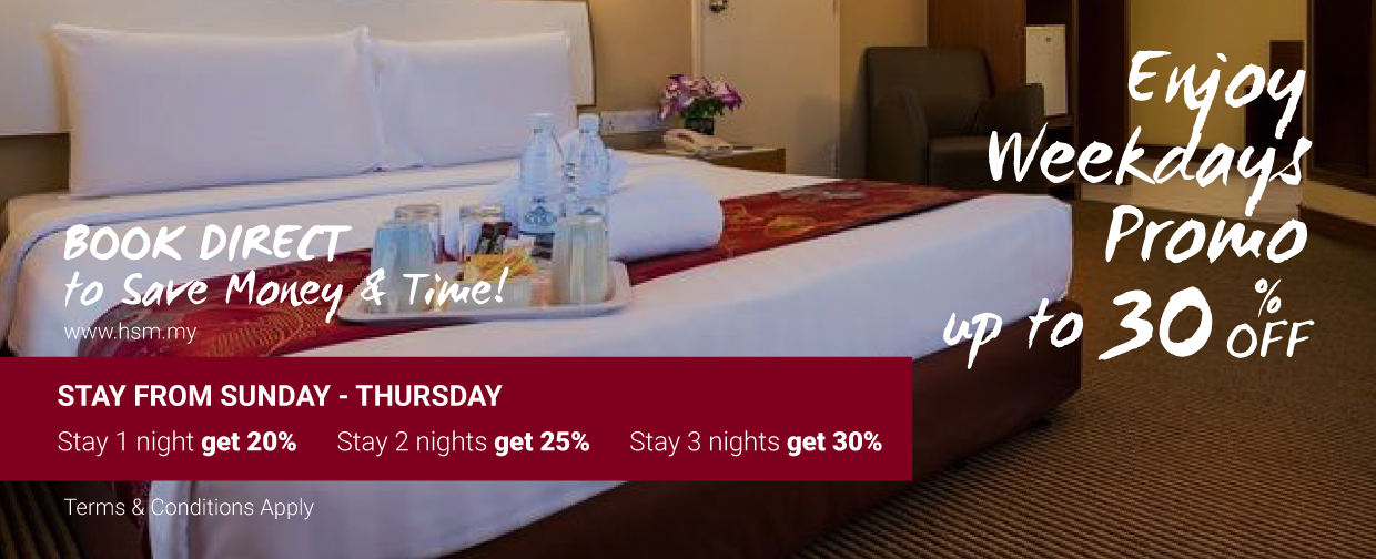 Hotel Sentral Riverview Melaka Weekdays Promotion
