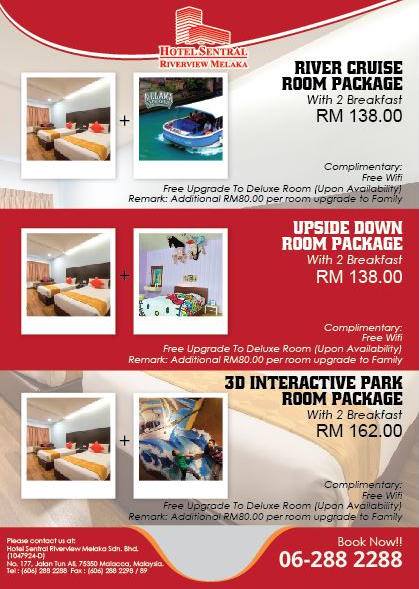 Hotel Sentral Riverview Melaka Package Promotion