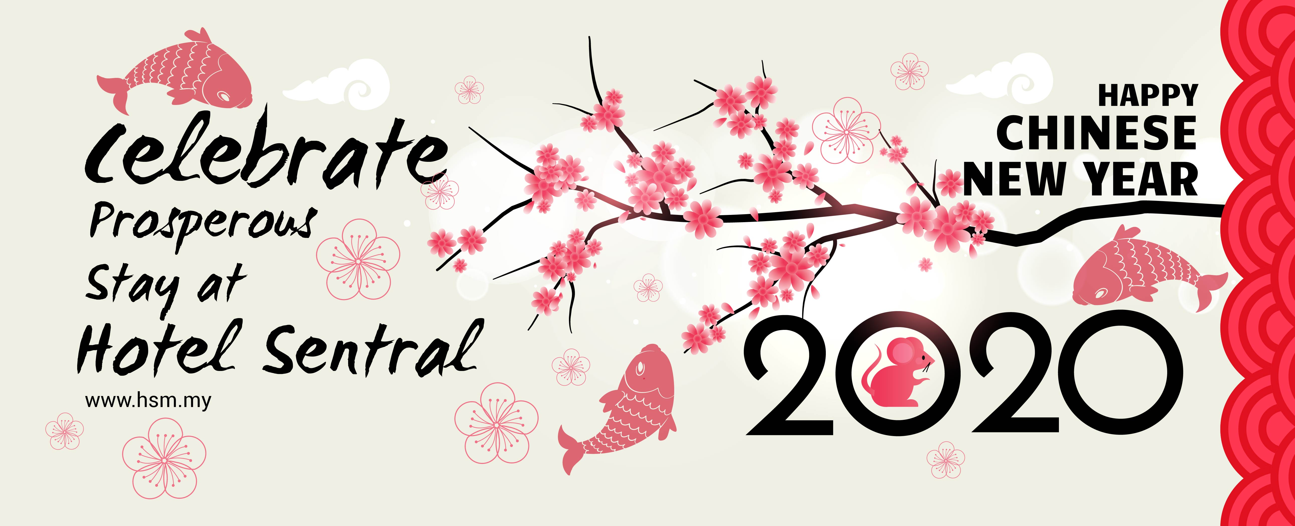 Hotel Sentral Chinese New Year Banner